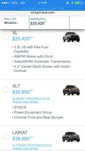 اسعار فورد f150 2015 من موقع الشركة
