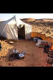 خيمة التميمي ذات جودة عالية وفيها مظلة