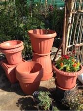 أحواض زراعية بلاستيكية جودة عالية وأشكال جميلة للحدائق والمنازل