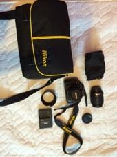 كاميرا نيكون للبيع D5100  عدسة Nikon 55-200
