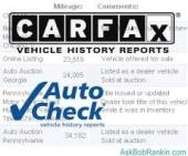 تقرير الكارفكسCARFAX والاوتوشيكAutoCheck للسيارات الامريكية