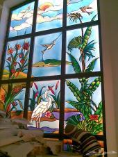 تنفيد أعمال ديكور الزجاج المعشق والملون والمثلج والقباب السماويه والشبابيك مع التركيب