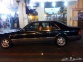 سياره من نوع مرسيدس ( شبح ) موديل 93 حجم 320 جفالي اللون أسود والداخليه أسود بحاله جيده جدا السعر 12