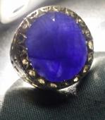 ( خاتم زفير .. ياقوت أزرق .. حجم عملاق .. أفريقي أصلي ..)