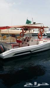 للبيع قارب نزهه وصيد 9 متر فرصة