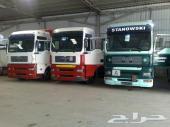 فرصه لاصحاب النقليات للبيع 4 شاحنات مان 18410-18460 موديلات 2003 بطايق جمركية