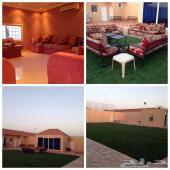 إستراحة فاخرة شمال الرياض قسمين للإيجار اليومي بأفضل الأسعار