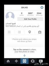 للبيع حساب الانستقرام فيه 5807 عرب