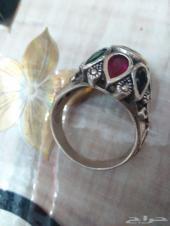 للبيع خاتم عقيق يماني اصفر نادر