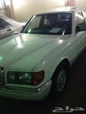 مرسيدس SE300 موديل 1990 لون ( ابيض ) نظيف جدا للبيع