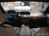 BMW 2007  الفئة السابعة  740IL لارج فل كامل نظيف جدا   ماشي 127000 وقابلة للزيادة
