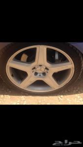 جنوط مرسيدس AMG بانوراما  مقاس20  مع كفرات جديده أصلي