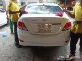 سيارة هيونداي أكسنت 2014 لون أبيض فل كامل