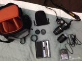 للبيع كاميرا نيكون موديل D3100 مع معداتها