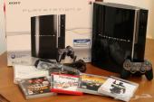 بلاي ستيشن 3 نظيف جدا في علبته مع 4 ألعاب PlayStation 3 with 4 DVD Games