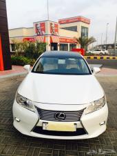 للتنازل لكزس ES2014  سعودي وارد عبداللطيف جميل فئةCC عداد 1300 جديدة بأكياس الوكاله