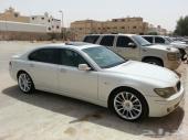 للبيع BMW 2007 740 فل كامل لون ابيض ناغي نظيف جدا