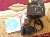 كاميرا نيكون coolpix L320 شبه جديده بيع عاجل