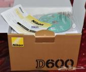 كاميرا نيكون D600  مع عدسة 24-85 فل فريم