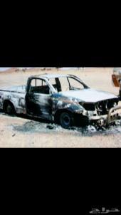 هايلوكس 2008 محترقه للبيع تشليح