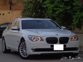 BMW حجم 740Li موديل 2009 ابيض بحالة الوكاله