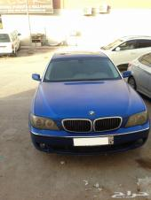 للبيع كاش أو بالبدل - سيارة بي أم دبليو حجم 760 موديل 2006 اللون أزرق