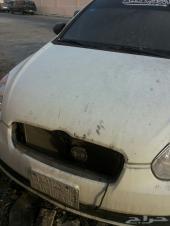 سيارة اكسنت 2011 الشكل القديم نصها محروق للبيع على حالتها
