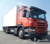 رقم العرض C 4346 عدد 27 شاحنة شاصي طويل اسكانيا p 380 سنة الصنع 2008 مع ثلاجة من المانيا