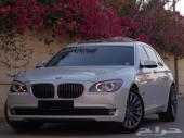 BMW حجم 730Li موديل 2012 ابيض بحالة الوكاله عداد 91 الف