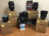 للبيع كاميرا نيكون D7100 مع عدسة مايكرو 105 ملم وعدسة 50 ملم وغيرها