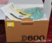 كاميرا نيكون D600  مع عدسة 24-85 فل فريم وعدسة عزل85