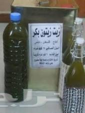 للبيع زيت زيتون فلسطيني معصور على الحجر الرحى طبيعي للدهن للجسم جديد  أخضر معصور عصرة اولى بكر ممتاز