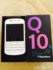 بلاك بيري Q 10 أبيض