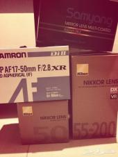 كاميرا نيكون D3200 للبيع مع خمس عدسات