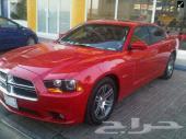 دوج شارجر 2012 اللون أحمر RT 8V