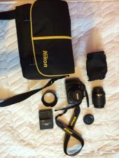 كاميرا نيكون للبيع D5100 عدسة مع عدستين Nikon 55-200