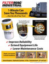 الحزام المغناطيسي للفلاتر ( السيفون ) للتخلص من برادة الحديد داخل المكينة للمعدات الصناعية والشاحنات