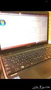 للبيع كمبيوتر لابتوب توشيبا مستعمل ومواصفات حلوة وكرت شاشه خارجي