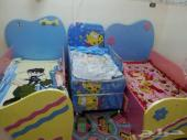غرفة نوم أطفال شبه جديده وإستخدام خفيف