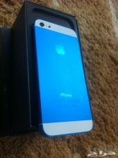 للبيع أيفون 5 قيقا64 لونه أزرق هلالي