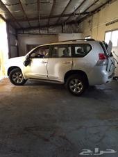 سيارة  برادو  2011  مقلوبة