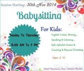 مدرسة لغة إنجليزية للبنات والأطفال--حاضنة اطفال المتاحة للأطفال- Best Baby Sitter Available