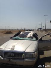 فورد  حراند ماركيز 2008 سعودي مصدوم للبيع