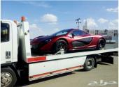 نقل السيارات من الإمارات إلى السعودي وجميع دول الخليج وبالعكس على سطحات هيدروليك