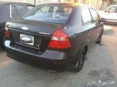 سيارة افيو جير عادي موديل 2008م للبيع اللون  اسود نظيفة (( مفحوصة جديد )) .