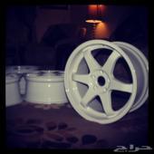 جنوط فولك رايز مقاس 18 عرضين جديدة بالكرتون volk rays wheels