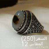 خواتم فضه عقيق يمني وسليماني من اجود الانواع