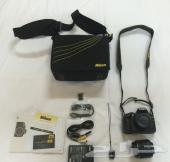 كاميرا نيكون D3200 بجميع ملحقاتها للبيع