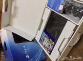 بلايستيشن Playstation 4 شبه جديد مع gta v