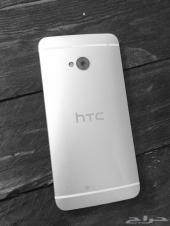 جوال htc للبيع M7 فضي